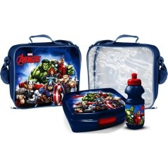 Avengers thermal lunch bag with lunch box and water bottle Avengers Marvel