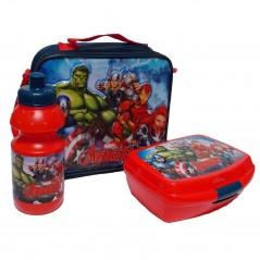 Sac isotherme Avengers Marvel avec boîte à goûter et gourde La Avengers Marvel