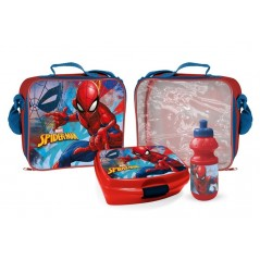 Spider-Man insulated bag with lunch box and gourd La Spiderman Marvel