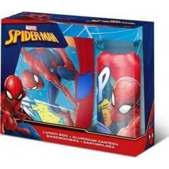 Boîte à goûter PVC + Gourde Spider-man