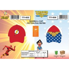 Casquette Flash et Wonder Woman
