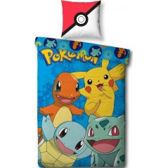 Pokemon - Parure duvet child - 1 duvet cover 140x200 + 1 pillowcase 63x63cm