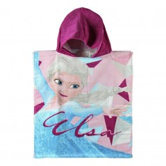 Swimming poncho The snow queen in cotton
