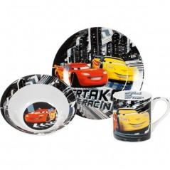 Set breakfast 3 piece mug - bowl and plate disney cars