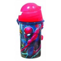 Water bottle pop up spiderman 500 ML
