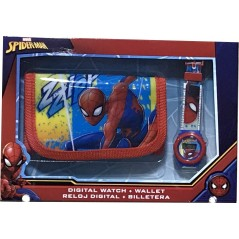 Set portefeuille + montre digitale Spiderman Marvel