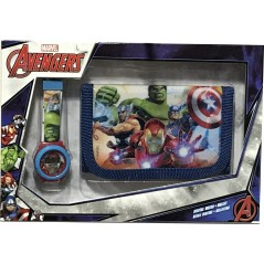 Avengers Marvel wallet + digital watch set