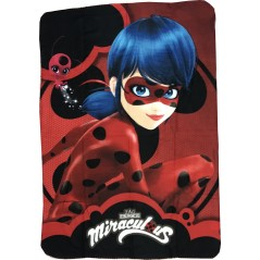 Miraculous Fleece Plaid -Lady Bug