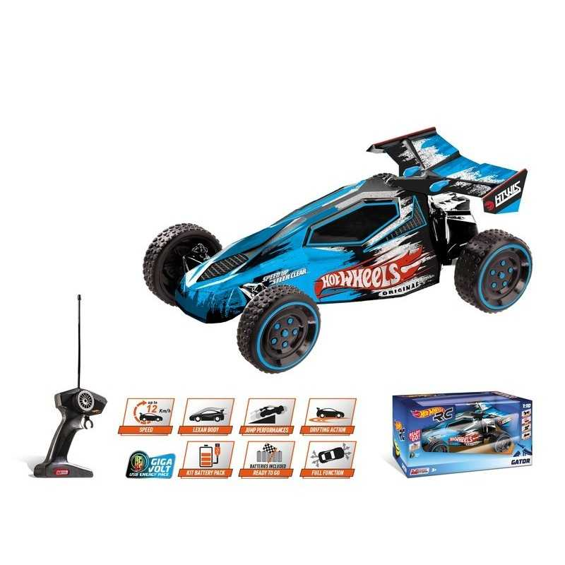 Hot Wheels Stunt Buggy 1/10 con batteria ricaricabile