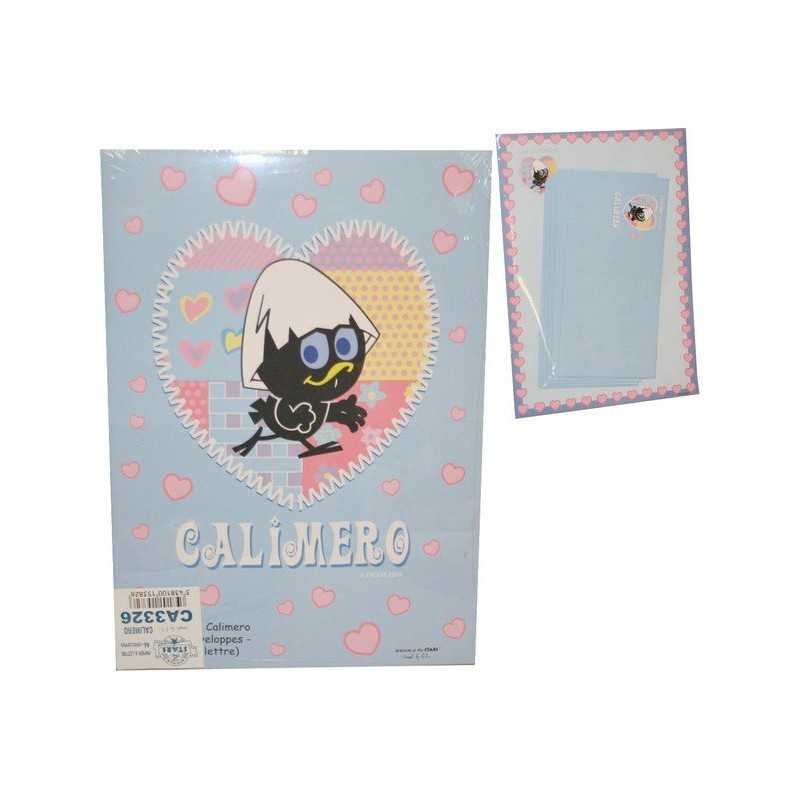 Set of 10 envelopes and 10 sheets of calimero decorated letter paper