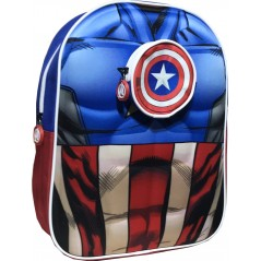 Captain America backpack in 3D -Marvel