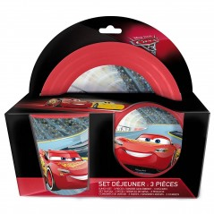 cars mcqueen 3 Pièce Plastic Lunch Set