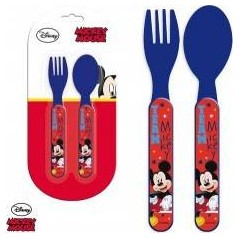 Set de couverts Mickey en plastique