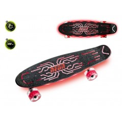 SKATEBOARD NEON HYPE Rouge