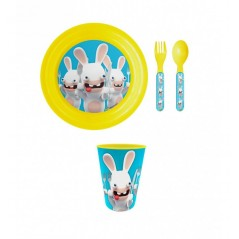 Lunch Set 4 Pieces Lapin Crétins