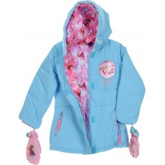 Down jacket with hood for girl Frozen