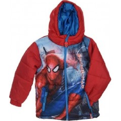 Down jacket with hood Spiderman
