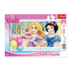 Puzzles Tea party - Frame 15 pcs Princess Disney