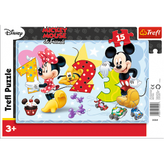 Puzzles Let's count together - Frame Mickey Disney