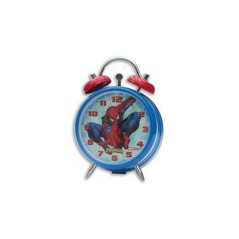 Spiderman metal alarm clock