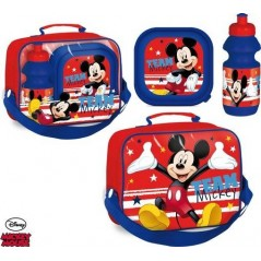 Cooler bag Mickey with box, snack and water bottle Mickey