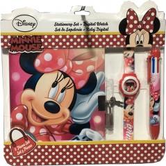 Notepad Minnie + orologio + penna 6 colori