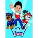 Plaid Polaire Paw patrol
