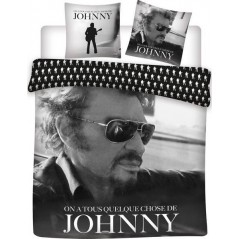 Johnny Hallyday Duvet Cover Set - 100% Cotton 240 X 220 CM + 2 Pillowcases