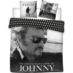 Juego de funda nórdica Johnny Hallyday - 100% algodón 240 x 220 cm + 2 fundas de almohada
