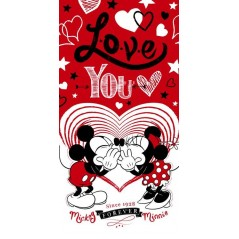 Minnie and Mickey Love beach towel or bath towel