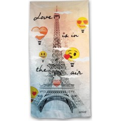 Beach towel Emoji love