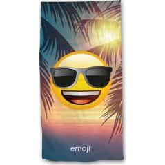 Drap de plage ou drap de bain Emoji en vacances
