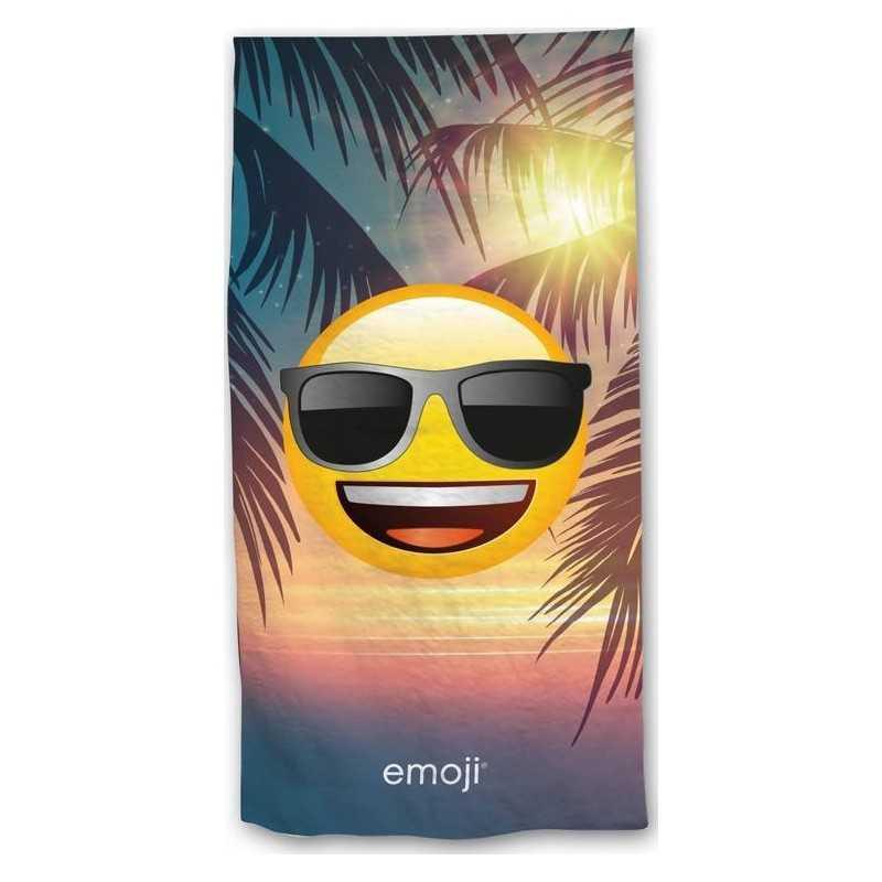 Drap de plage oder drap de bain Emoji en vacances