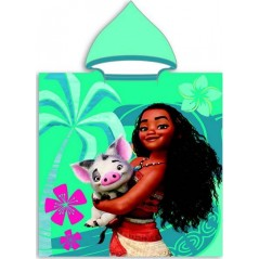 Poncho de bain Vaiana Disney à capuche