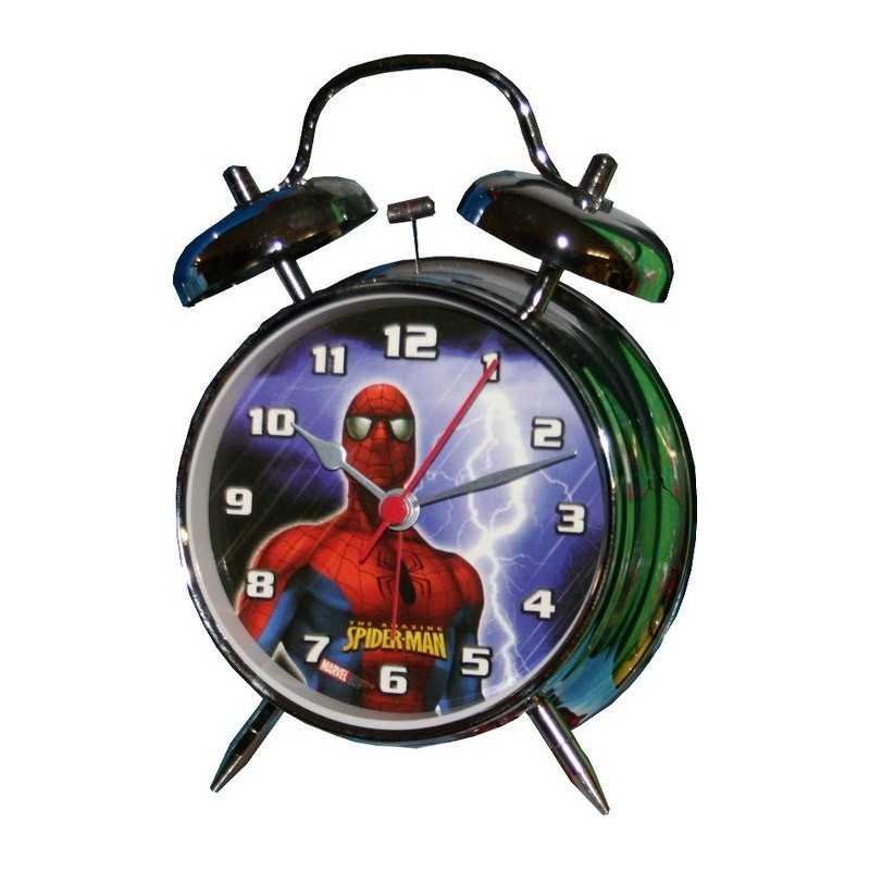 Spiderman metal despertador