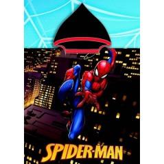 Spider-Man z kapturem na poncho z kapturem