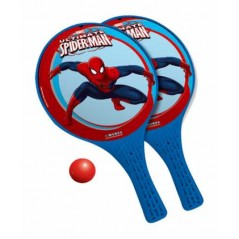 Spider-man -Lot de 2 raquettes + balle