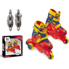 Disney Tri-Inline Cars Rollerblades - 3-in-1 Evolving Wheels