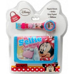 Minnie Disney wallet + watch set