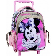 Minnie Trolley Backpack In Pink