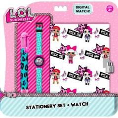 Lol Surprise! Diary set + Digital Watch + Pen