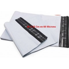 Tamper-resistant plastic envelope-opaque white shipping pouch 26 x 35 cm in 60 μ