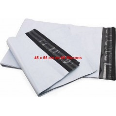 Opaque plastic shipping envelope 45 x 55 cm in 60 μ