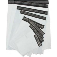 Busta di plastica a prova di manomissione - Custodia bianca opaca per spedizione - Per 100 pezzi