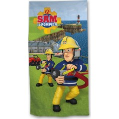 Beach towel Sam The Fireman in cotton