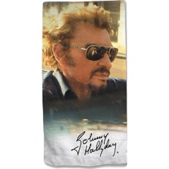 Cotton Johnny Hallyday beach towel