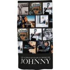 Johnny Hallyday Cotton Beach Towel