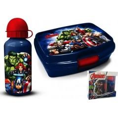 Scatola snack in PVC + Gourde Avengers