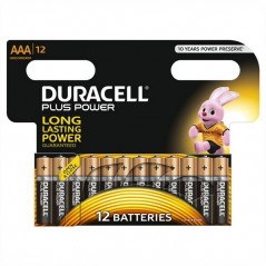 Batteries Duracell Plus Power AAA x 12