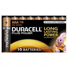 Batteries Duracell Plus Power AAA x 16